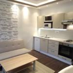 kis lakás modern konyha nappali