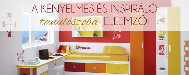 A kényelmes és inspiráló tanulószoba jellemzői.