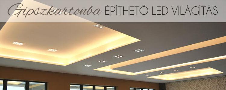 Gipszkartonba építhető LED világítás