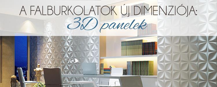 A falburkolatok új dimenziója - 3D panelek