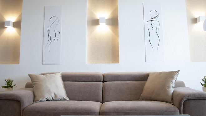 Modern nappali, kanapé