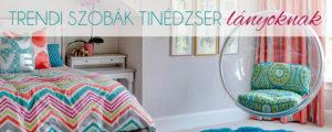 Trendi szobák tinédzser lányoknak