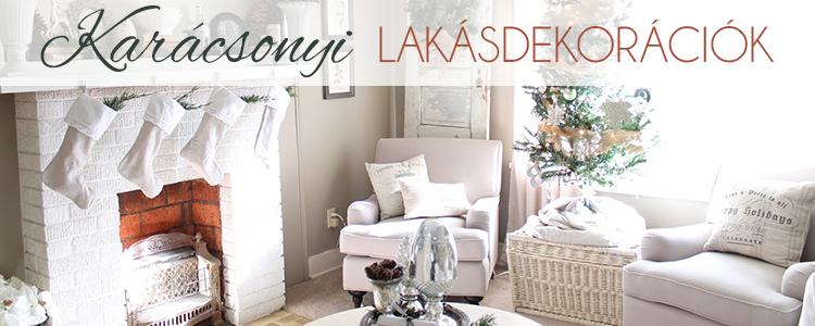 Karácsonyi lakásdekorációk blogbejegyzés