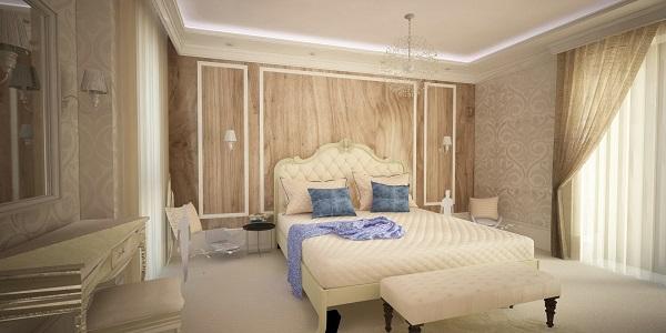 Elegáns, klasszikus hálószoba