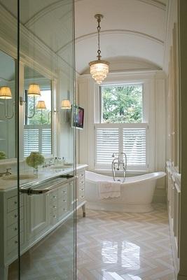Klasszikus stílusú fürdőszoba