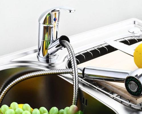 Kihúzható fejű mosogató csaptelep
