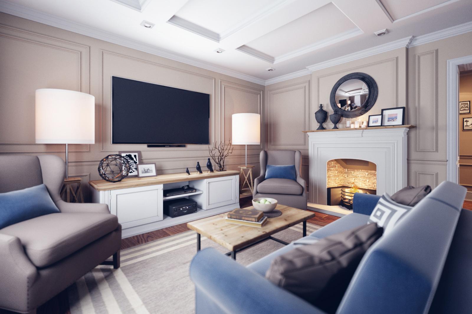 Klasszikus elegancia modern köntösben nappali