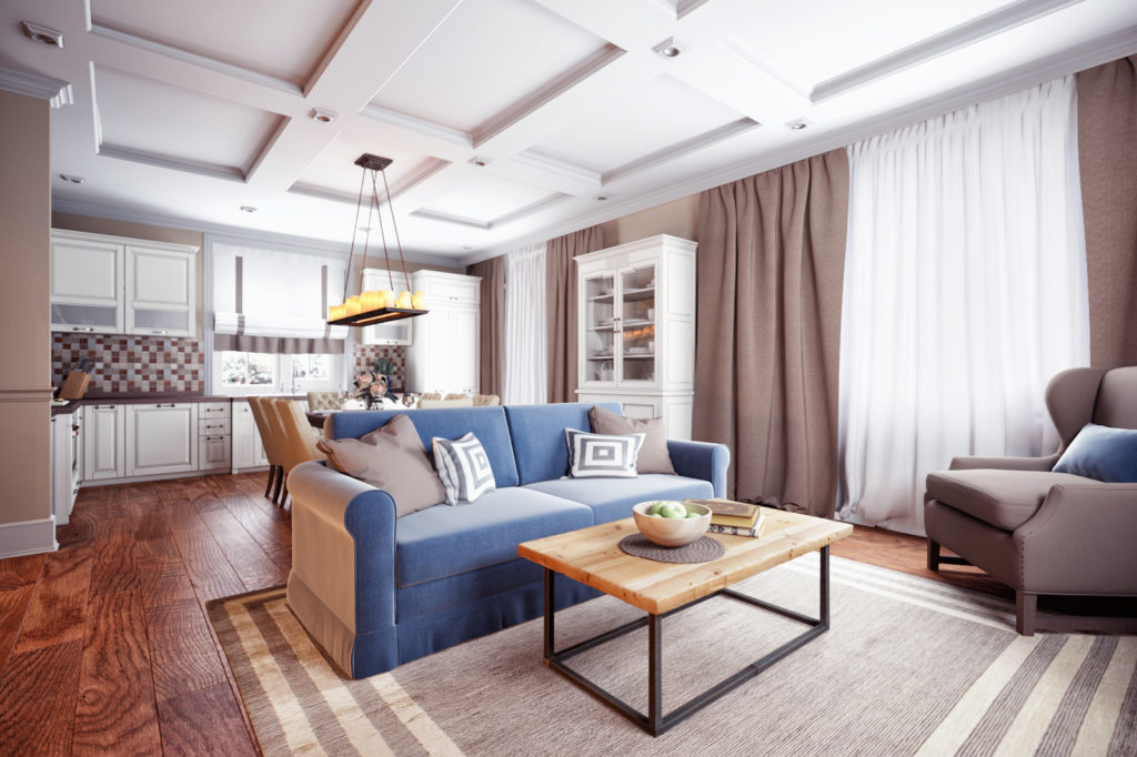 Klasszikus elegancia modern köntösben, nappali