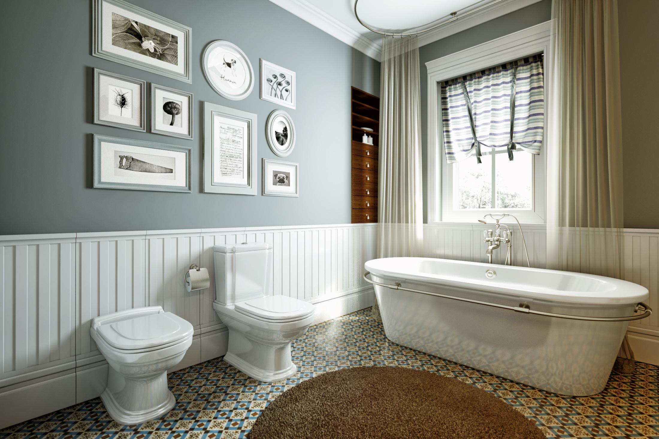 Klasszikus-modern fürdőszoba