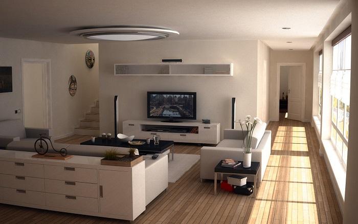 Televízió nappaliban