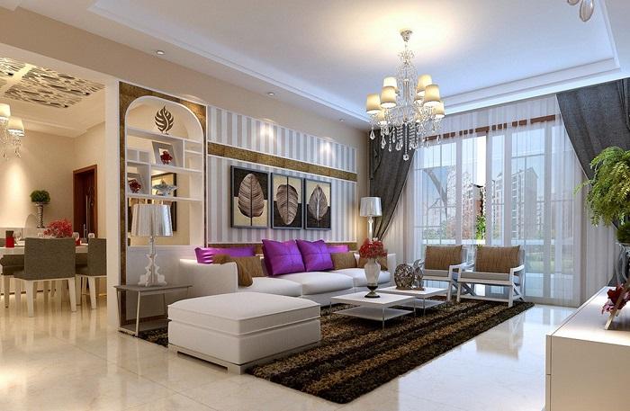Többféle világítás nappaliban