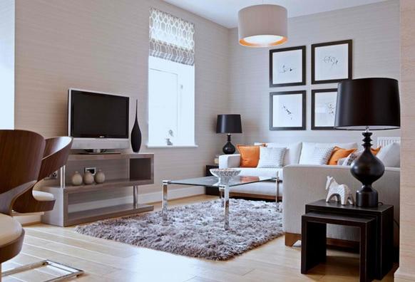 TV szép kis nappaliban
