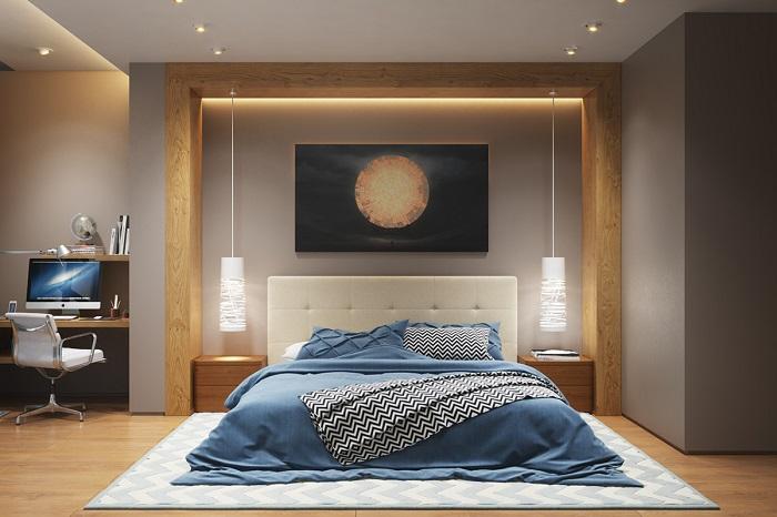 Szolid világítás hálószobában