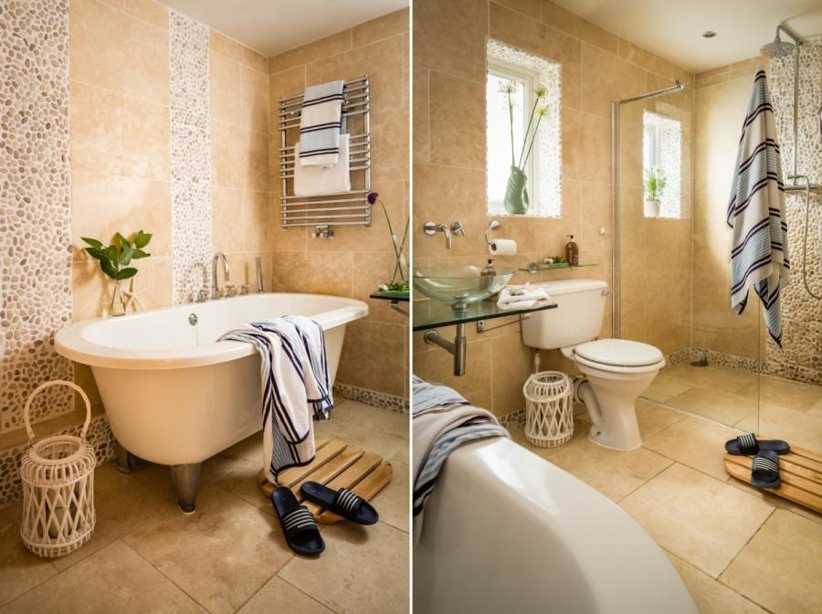 Otthonos nyaraló fürdőszoba