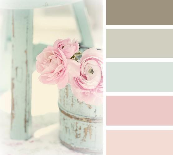 shabby chic pasztell színek