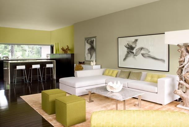 Zöld színek nappali, étkező
