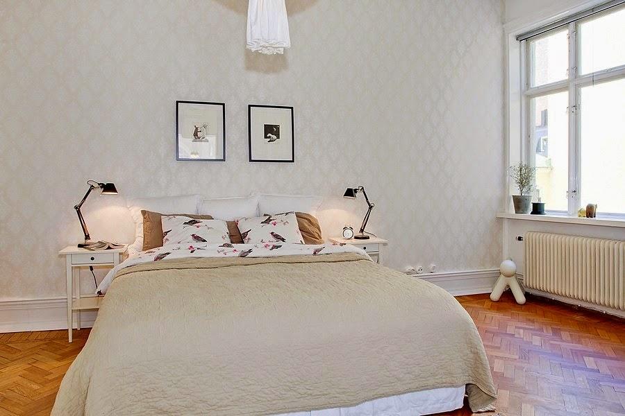 Klasszikus, elegáns hálószoba csipetnyi skandináv stílussal