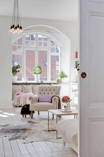 Skandináv stílus nagypolgári lakásban