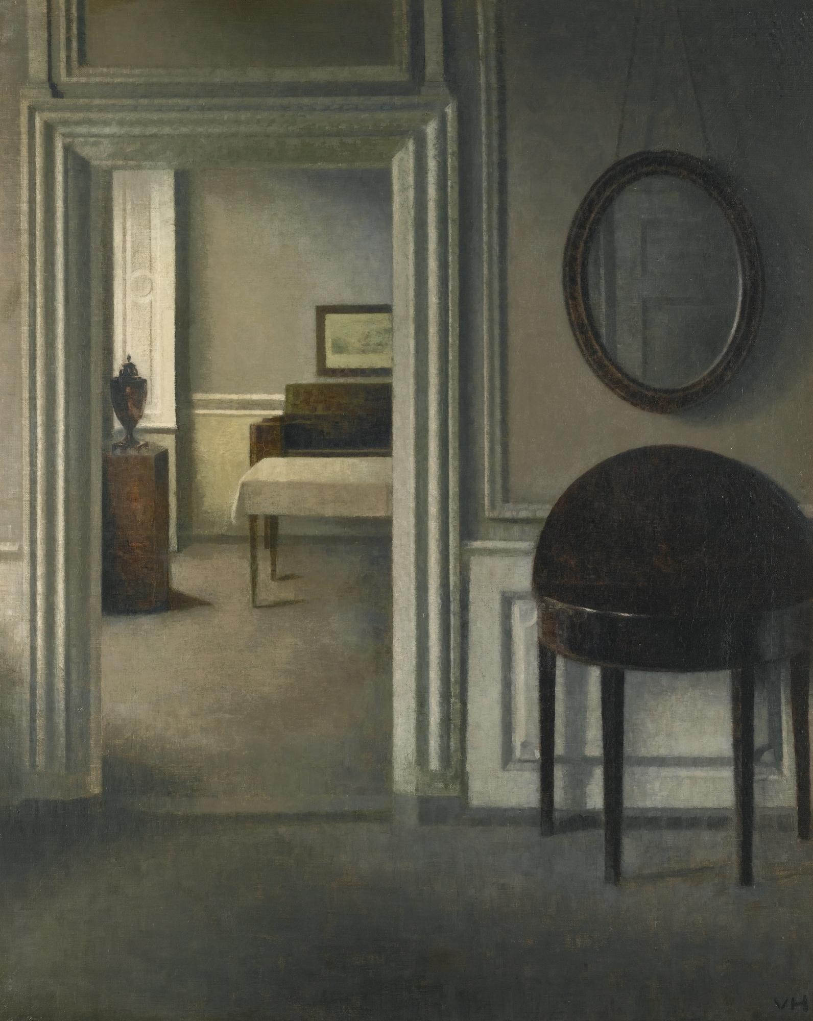 Vilhelm Hammershøi enteriőr festménye