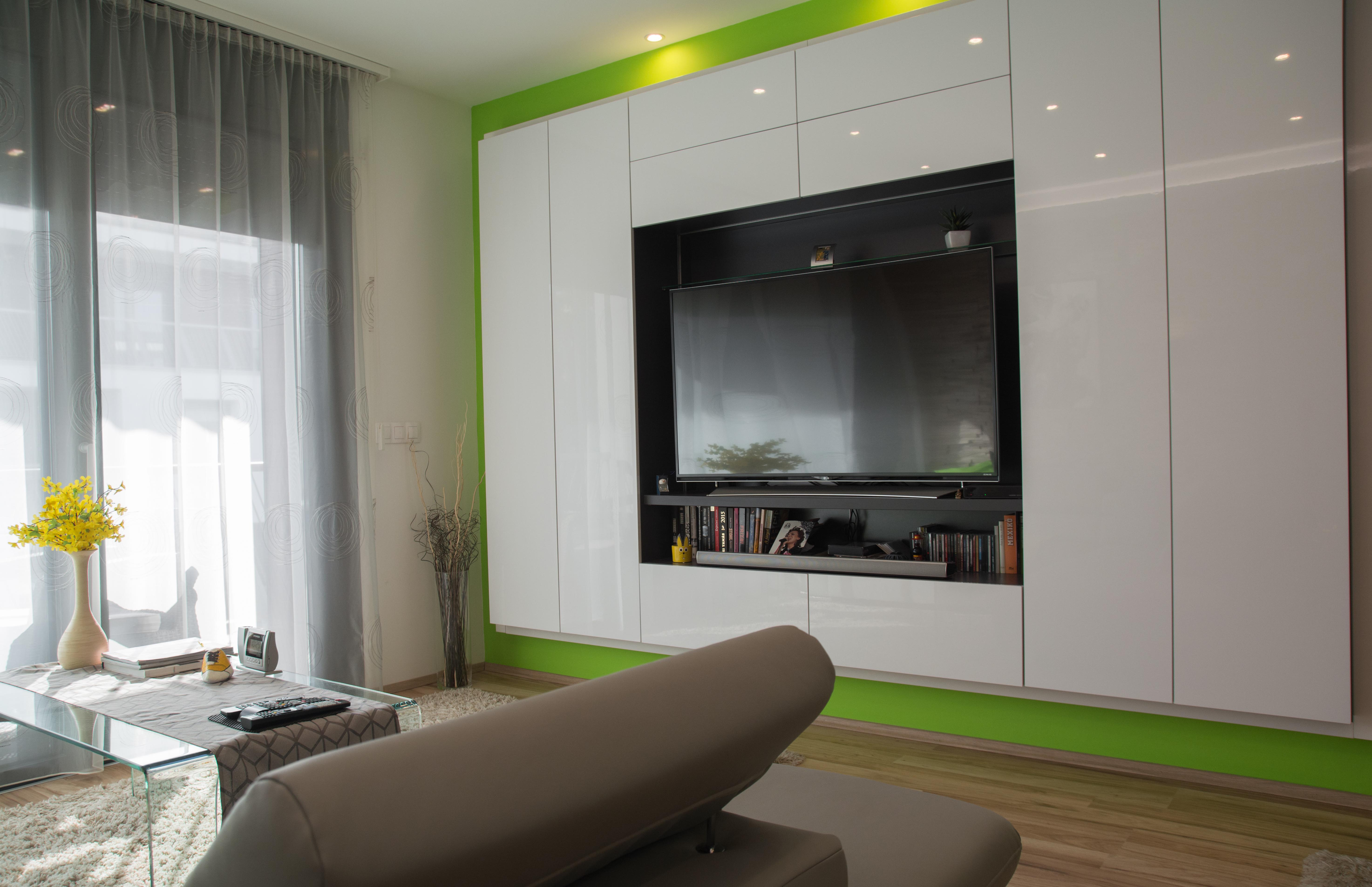 Minimalista nappali szekrény tervezve