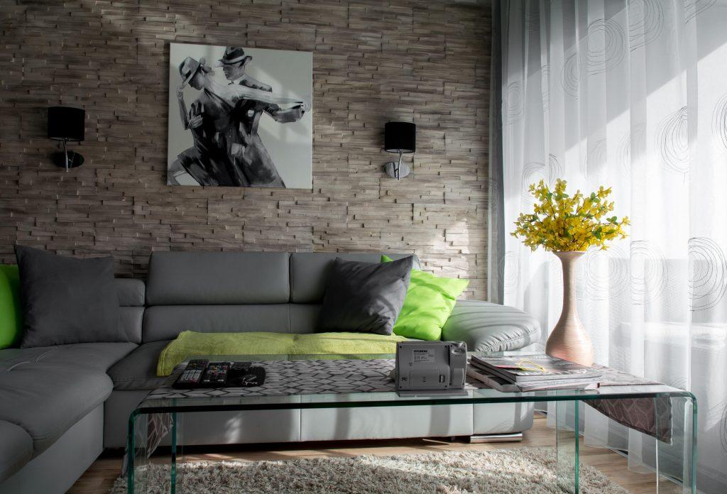 Modern kis lakás lakberendezése