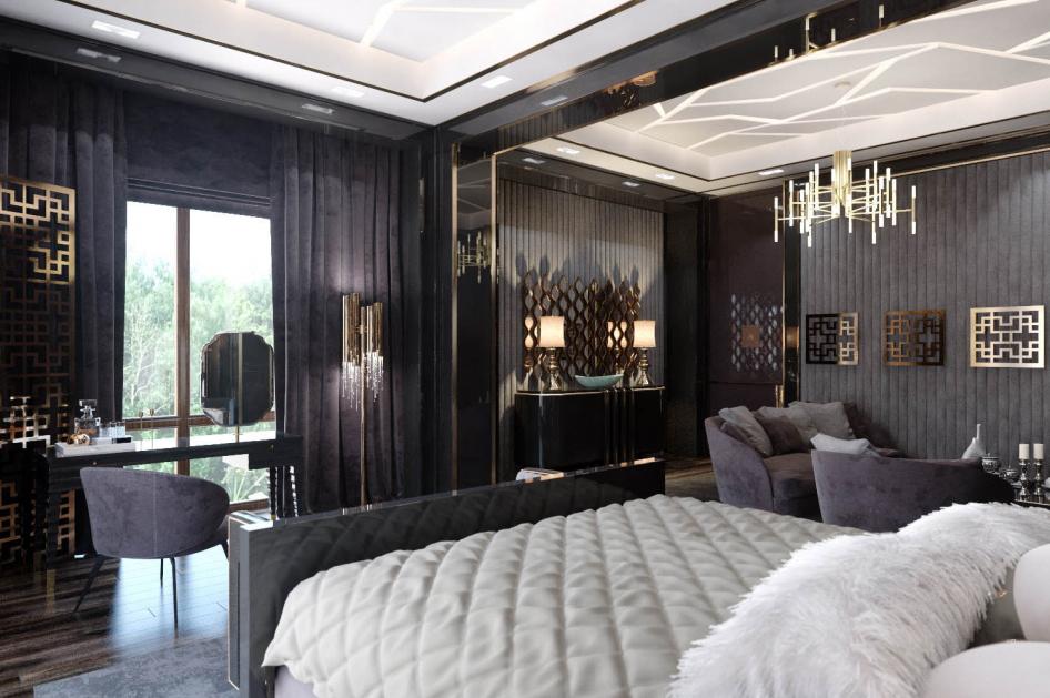 Klasszikus, elegáns hálószoba