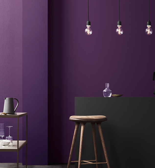 Pantone 2018 ultraviola belső tér