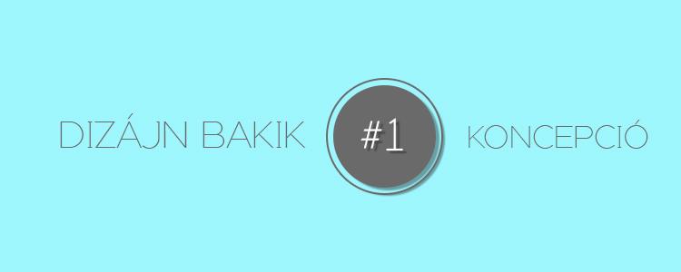 Dizájn Bakik #1 Koncepció