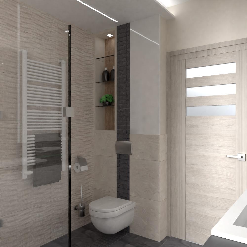 Kis fürdőszoba mozaikkal