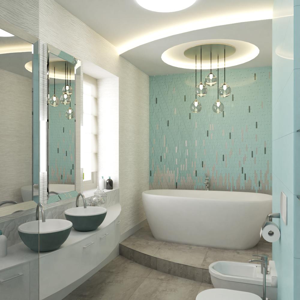 Türkizkék fürdőszoba