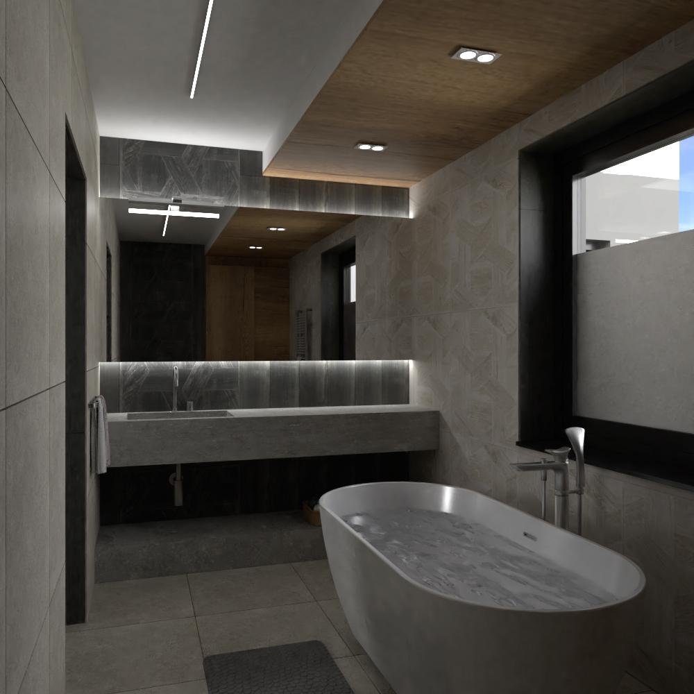 Fürdőszoba lakberendezési látványterv
